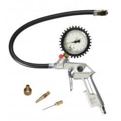 Homologowany pistolet do pompowania  kół pojazdów mechanicznych STANLEY z manometrem , ciśnienie robocze 10 bar
